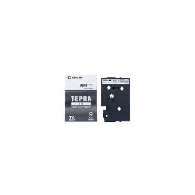キングジム テプラ TR テープカートリッジ 9mm 透明/黒文字 TT9KM 1個