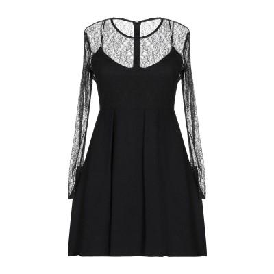SANDRO ミニワンピース&ドレス ブラック 36 レーヨン 85% / ナイロン 15% ミニワンピース&ドレス