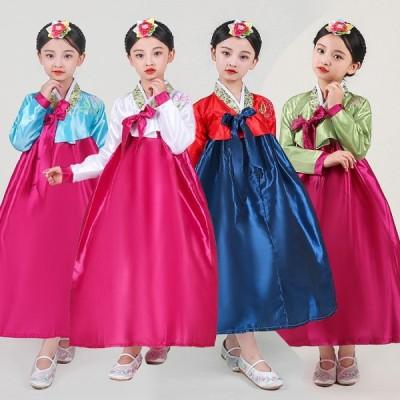 韓国服 韓服 韓国伝統衣装 チマチョゴリ 韓国ドレス 朝鮮族衣装 イベント パーティードレス コスプレ 子供 キッズ 女の子 かわいい 学園際 文化際