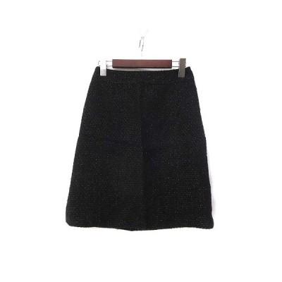 【中古】インディヴィ INDIVI スカート 36 S ウール混 ラメ ミックス 台形 美品 レディース 【ベクトル 古着】