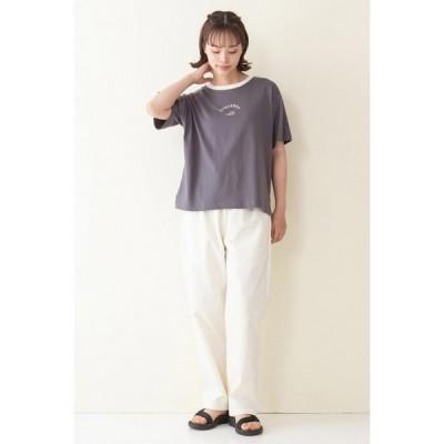 コンバース Tシャツ(CONVERSE)シューズ刺繍リンガーTシャツ