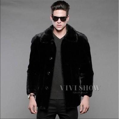 おしゃれ アウター 暖かい 冬物 長袖 防寒 防風 美品 かっこいい 毛皮コート 人気 上質 コート 上着 ジャケット 男性用 ファーコート メンズ ショートコート