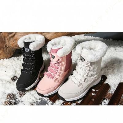 レディース スノーブーツ 綿靴 雪靴 超防寒 ムートンシューズ 防水 超厚手 滑り止め 大きいサイズ 歩きやすい スノーシューズ 冬用 ファー 滑らない 裏ボア
