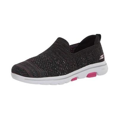 Skechers womens Walking Sneaker, Black/Multi, 11 US