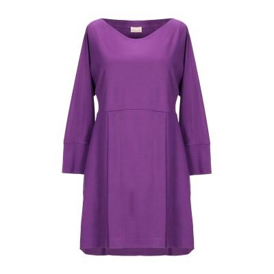 MYF ミニワンピース&ドレス ライトパープル S レーヨン 67% / ナイロン 29% / ポリウレタン 4% ミニワンピース&ドレス