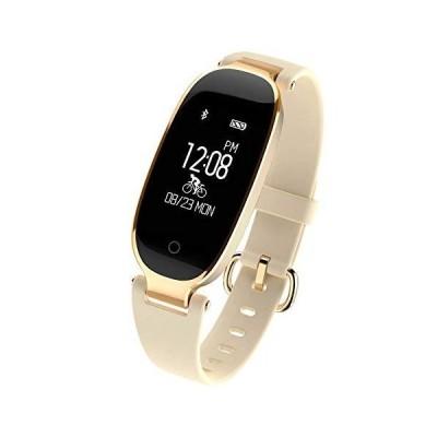 DUTUI Sports Watch, Multi-Sports Mode Calorie Consumption Watch Waterproof Bluetooth Connected Watch, Beige_並行輸入品