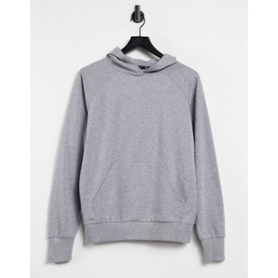 エイソス レディース パーカー・スウェット アウター ASOS DESIGN ultimate hoodie in gray marl