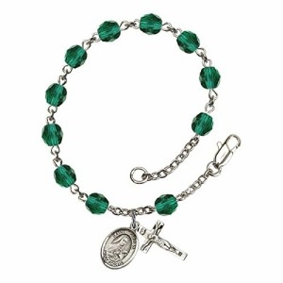 Bonyak Jewelry ブレスレット ジュエリー Bonyak Jewelry St. Therese of Lisieux Silver Plate Rosary Br