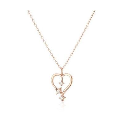[ブルーム] BLOOM K10 ピンクゴールド ダイヤモンド ハートモチーフ ネックレス BAPLB1643940