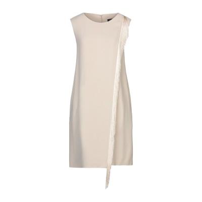 ANTONELLI ミニワンピース&ドレス ベージュ 46 アセテート 78% / レーヨン 22% ミニワンピース&ドレス