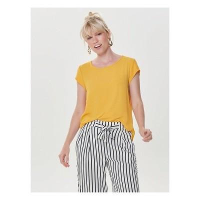 オンリー Tシャツ レディース トップス ONLVIC SOLID  TOP - Blouse - yellow