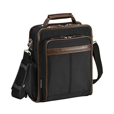 平野鞄 ショルダーバッグ ビジネスバッグ メンズ 斜めがけA4 縦型 2way 軽量 多機能 通勤 黒 ブラック 大容量 横幅25cm +オリジナル高