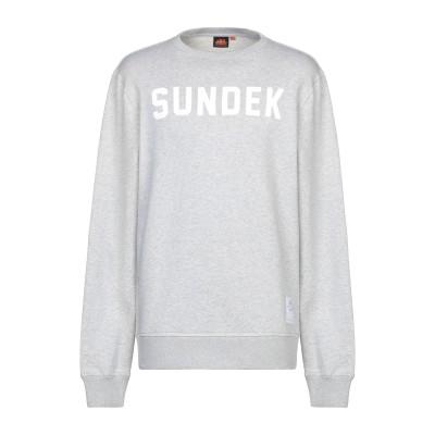 サンデッキ SUNDEK スウェットシャツ グレー XXL コットン 100% スウェットシャツ