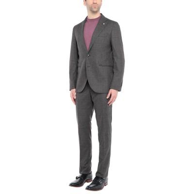 LUIGI BIANCHI Mantova スーツ ダークブラウン 48 ウール 55% / ナイロン 42% / コットン 2% / ポリウレタン