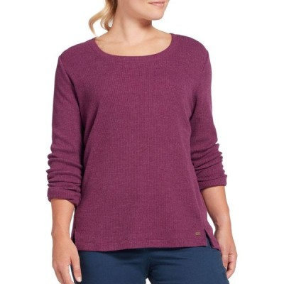 フィールドアンドストリーム Field & Stream レディース 長袖Tシャツ トップス Long Sleeve Waffle T-Shirt Dark Purple Hthr