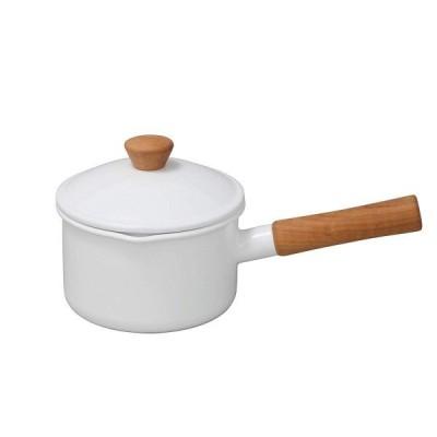 野田琺瑯(Nodahoro) ソースパン ホワイト 14cm クルール CL-14NW