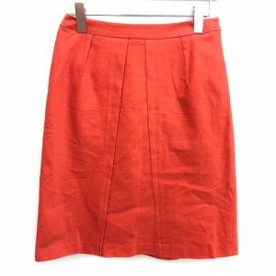 【中古】ランバン LANVIN COLLECTION 台形 スカート ひざ丈 40 L オレンジ /YM ■EC レディース