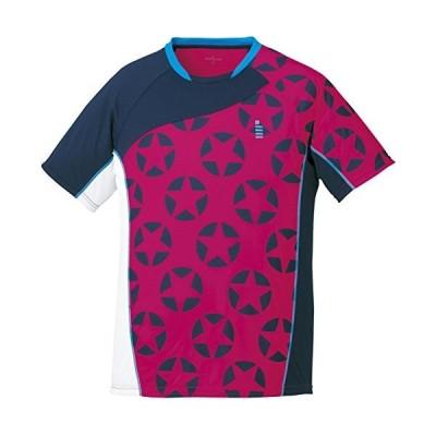 ゴーセン(GOSEN) 男女兼用 バドミントン ソフトテニス 星柄ゲームシャツ T1714 ピンク(81) LL