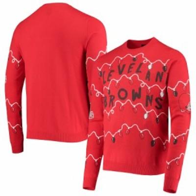 """メンズ セーター """"Cleveland Browns"""" FOCO Light-Up Ugly Sweater - Orange"""