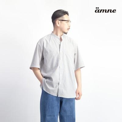アンヌ amne マルチストライプ 半袖シャツ 日本製 メンズ