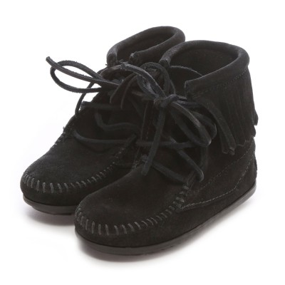 【Kid's】ミネトンカ MINNE TONKA ANKLE HI TRAMPER BOOT(Black)