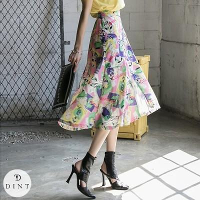 「DINT」 ★送料無料★SK2051 フロント·ジッパー·プリンティング·スカート セレブ系オフィススタイル 韓国ファッションブランドDINTのオシャレなオフィススタイル提案!