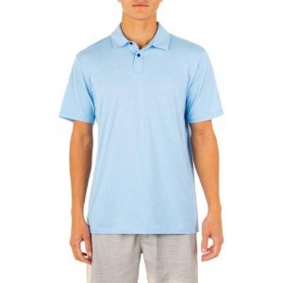 ハーレー メンズ シャツ トップス Hurley Men's DRI Ace Short Sleeve Polo Psychic Blue