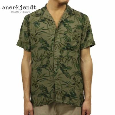アナケット ANERKJENDT 正規販売店 メンズ 半袖開襟シャツ オープンカラーシャツ SHORT SLEEVE OPEN COLLARED SHIRT WHITE PEPPER 9219064 5504