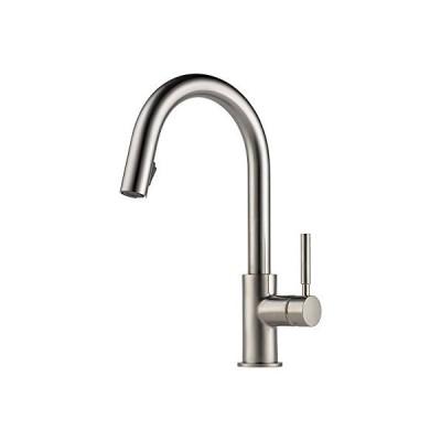 【並行輸入品】Brizo 63025LF Pullout Spray High-Arc Kitchen Faucet with MagneDock, Diamond Seal, Stainless