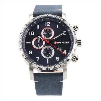 ウェンガー WENGER 腕時計 01.1543.109 アティテュード クロノグラフ レザーベルト メンズ