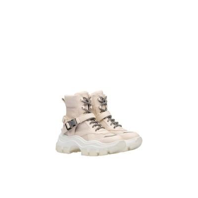 プラダ PRADA スニーカー シューズ 靴 クリーム ホワイト バッファロー レザー ナイロン コットンレース