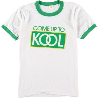80年代 CENTER STAR KNITS KOOL クール アドバタイジングTシャツ USA製 レディースM ヴィンテージ /eaa151986