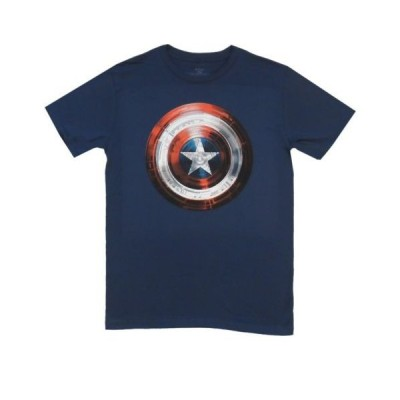Tシャツ マーベルコミック Captain America Winter Soldier Movie Shield Marvel Licensed Adult T Shirt