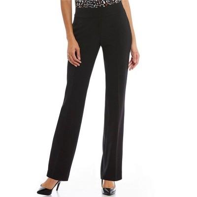 カスパー レディース カジュアルパンツ ボトムス Solid Crepe Slim Pant Black
