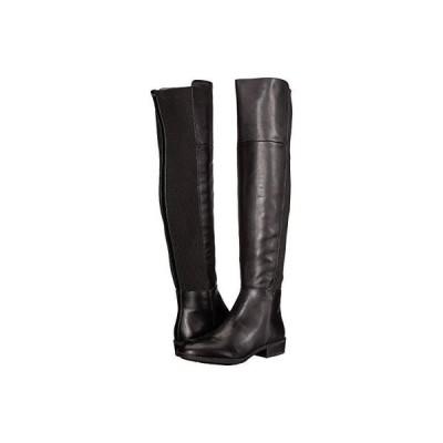 サム エデルマン Pam レディース ブーツ Black Leather Modena Calf Leather/Ribbed Stretch Knit