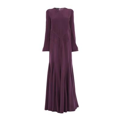 ロシャス ROCHAS ロングワンピース&ドレス ディープパープル 44 シルク 100% ロングワンピース&ドレス