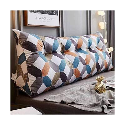大 腰枕 ヘッドボードクッション 取り外し可能な洗浄カバー 三角枕 ウェッジ枕 のために適した ダブル