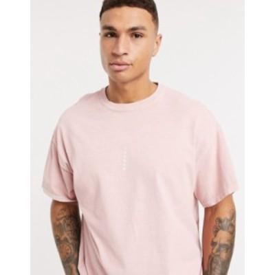 トップマン メンズ シャツ トップス Topman t-shirt with London print in pink Pink