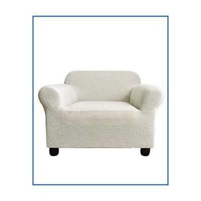 【新品】(armchair(90cm - 120cm), White) - Armchair Cover Spandex Polyester Slipcover Jacquard Stretch Slip Resistant Solid Print Snow Wh