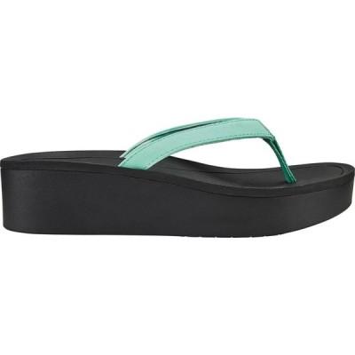 オルカイ OluKai レディース サンダル・ミュール シューズ・靴 Pi'o Lua Wedged Sandals Green/Aqua