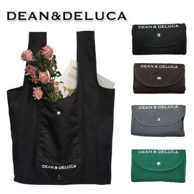 在庫処分  DEAN&DELUCA エコバッグ 折りたたみ式 ディーン&デルーカ キャンバストートバッグ ナイロン セール 折畳み可能