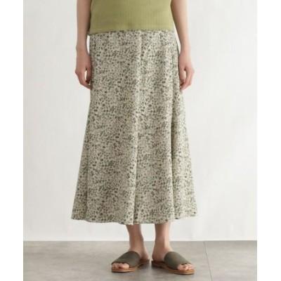 [洗える]プチフラワーマーメイドロングスカート