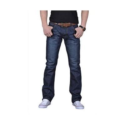 [プチドフランセ ] ジーンズ メンズ ジーンズ スキニー ズボン 大きいサイズ デニムパンツ ストレート ストレートシリーズ ストレートジ