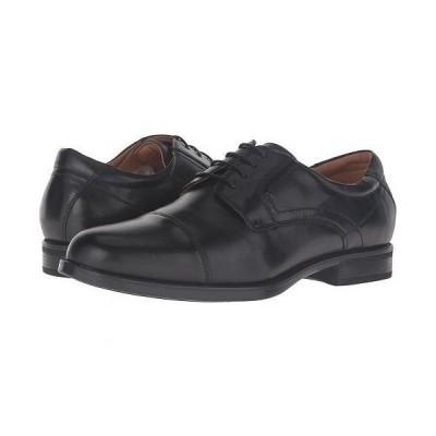 Florsheim フローシャイム メンズ 男性用 シューズ 靴 オックスフォード 紳士靴 通勤靴 Midtown Cap Toe Oxford - Black Smooth