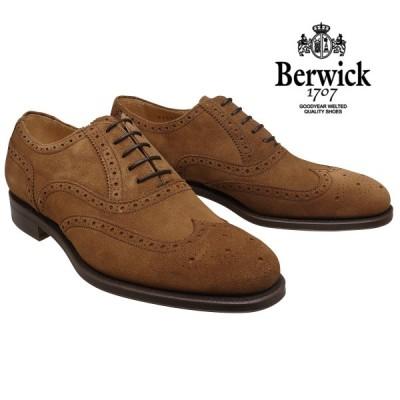 【在庫限りセール】バーウィック 靴 ウィングチップ 9232 スナッフスエード レザーソール Berwick1707