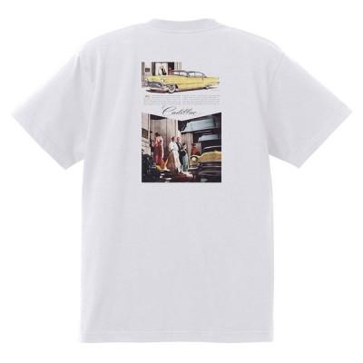 アドバタイジング キャデラック Tシャツ 白 965 黒地へ変更可 1956 オールディーズ ロック 1950's 1960's ロカビリー ホットロッド