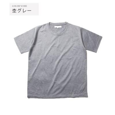 【ザ カジュアル】 (バイヤーズセレクト)Buyer's Select 日本製シルケットコーマ天竺クルーネック白Tシャツ メンズ 杢 グレー L THE CASUAL
