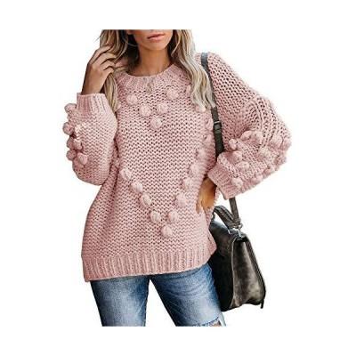 Saodimallsu Womens Chunky Batwing Sweaters Oversized Long Sleeve Crew Neck