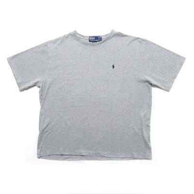 【25%off】古着 ポロラルフローレン ワンポイントロゴ Tシャツ グレー サイズ表記:XL/TG