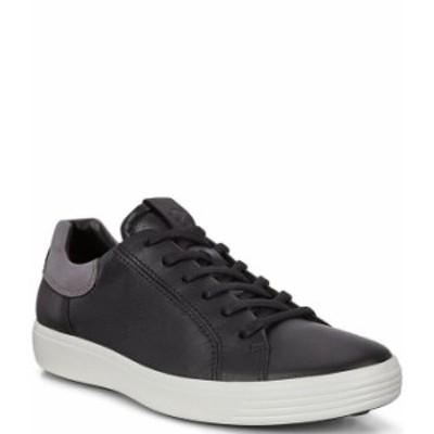 エコー メンズ ドレスシューズ シューズ Men's Soft 7 Leather Street Sneakers Black/Titanium